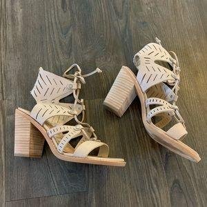 Dolce Vita Tan Stacked Heel Sandal